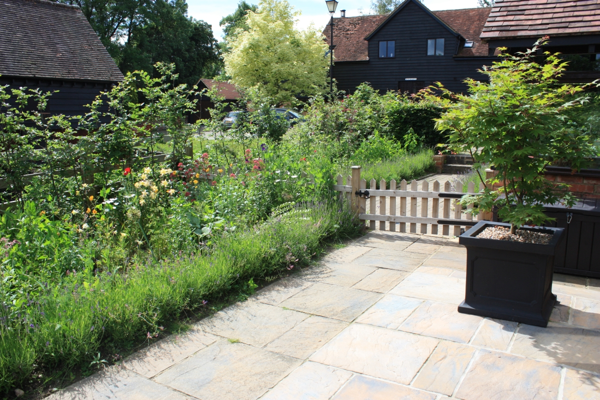 New extended path and cottage garden