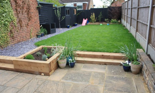 Split-level garden design