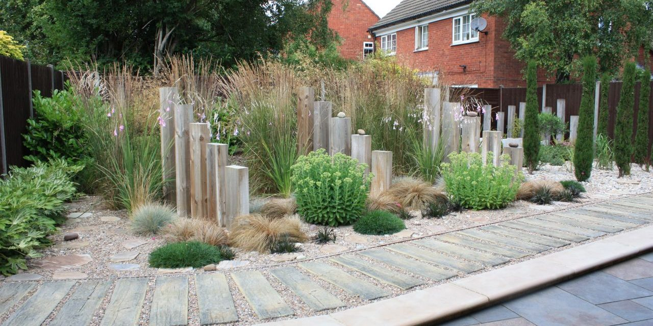 Grasses in the perennial borders